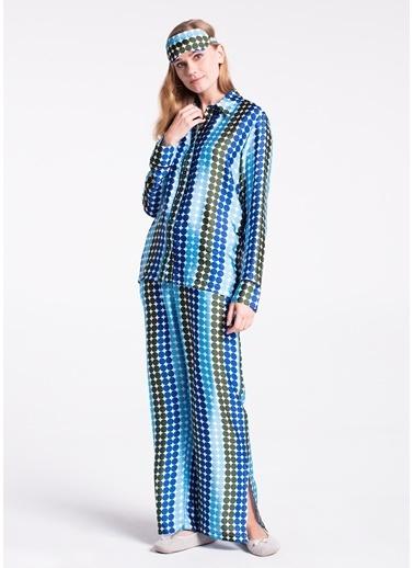 Dagi Uzun Kollu Pijama Takımı Mavi
